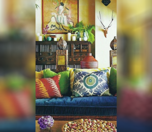Tα bold και boho living rooms