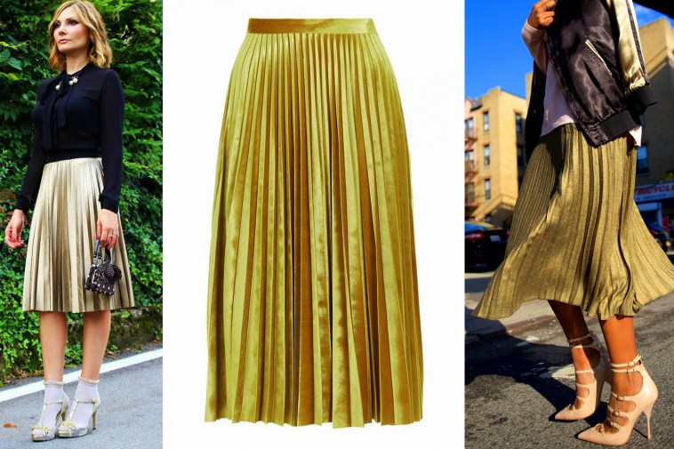 gold-pleated-skirt-png