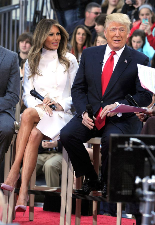 Mandatory Credit: Photo by Broadimage/REX/Shutterstock (5659311b) Donald Trump, Melania Trump 'The Today Show', New York, America - 21 Apr 2016 NBC's 'Today' Trump Town Hall