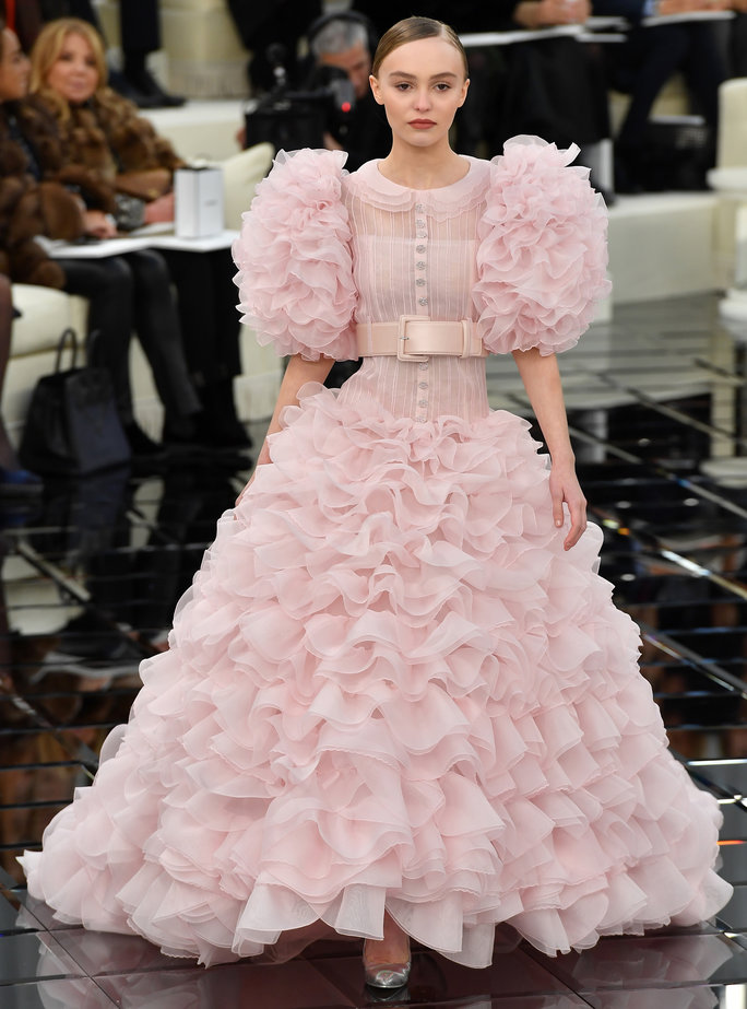 PARIS, FRANCE - JANUARY 24: Lily-Rose Depp walks the runway during the Chanel Spring Summer 2017 show as part of Paris Fashion Week on January 24, 2017 in Paris, France. (Photo by Pascal Le Segretain/Getty Images)