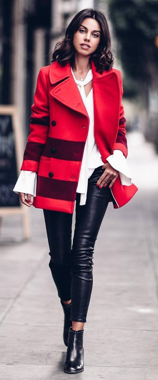 how-to-wear-leather-pants-red-coat-plus-white-top-plus-bag-plus-boots