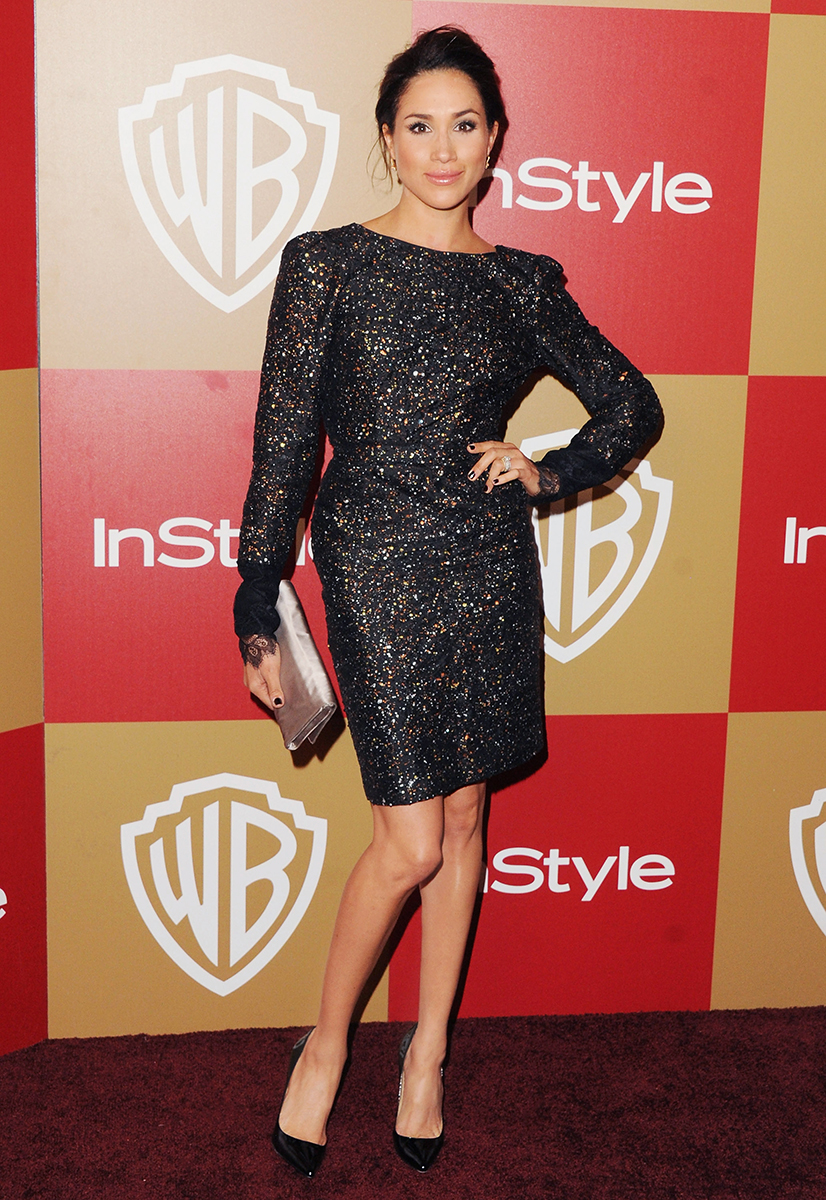 BEVERLY HILLS, CA - JANUARY 13:  Actress Meghan Markle arrives at the InStyle And Warner Bros. Golden Globe Party at The Beverly Hilton Hotel on January 13, 2013 in Beverly Hills, California.  (Photo by Jon Kopaloff/FilmMagic)