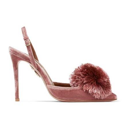 net-aquazzura-powder-puff-pompom-embellished-velvet-pumps